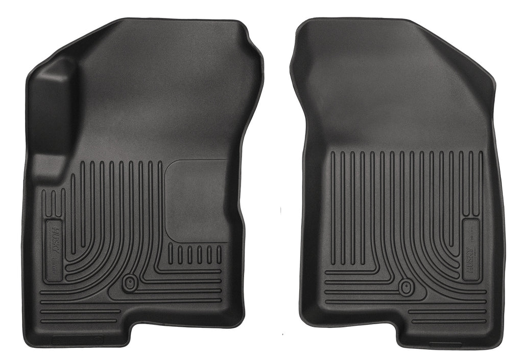 Husky Liners-13001-Husky Floor Liners Front 07-15 Dodge Caliber/Jeep Compass/Patriot Weatherbeater-Black-AutoAccessoriesGuru.com