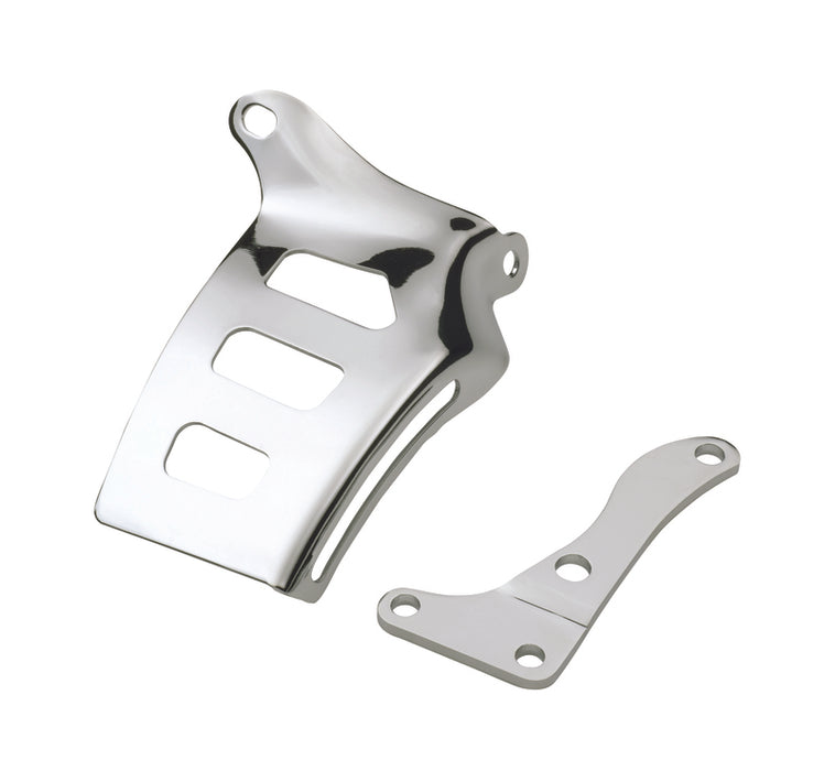 Chevrolet Performance Parts-141-402-Alternator Bracket Fits SB Chevy Engines Bolts to Manifold ChromeSteel Chevrolet Performance Parts-AutoAccessoriesGuru.com