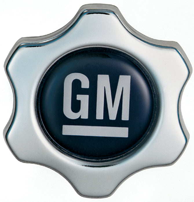 Chevrolet Performance Parts-141-631-Engine Oil Filler Cap Chevy Style Valve Cover Hole White on Blue GM Logo Chevrolet Performance Parts-AutoAccessoriesGuru.com