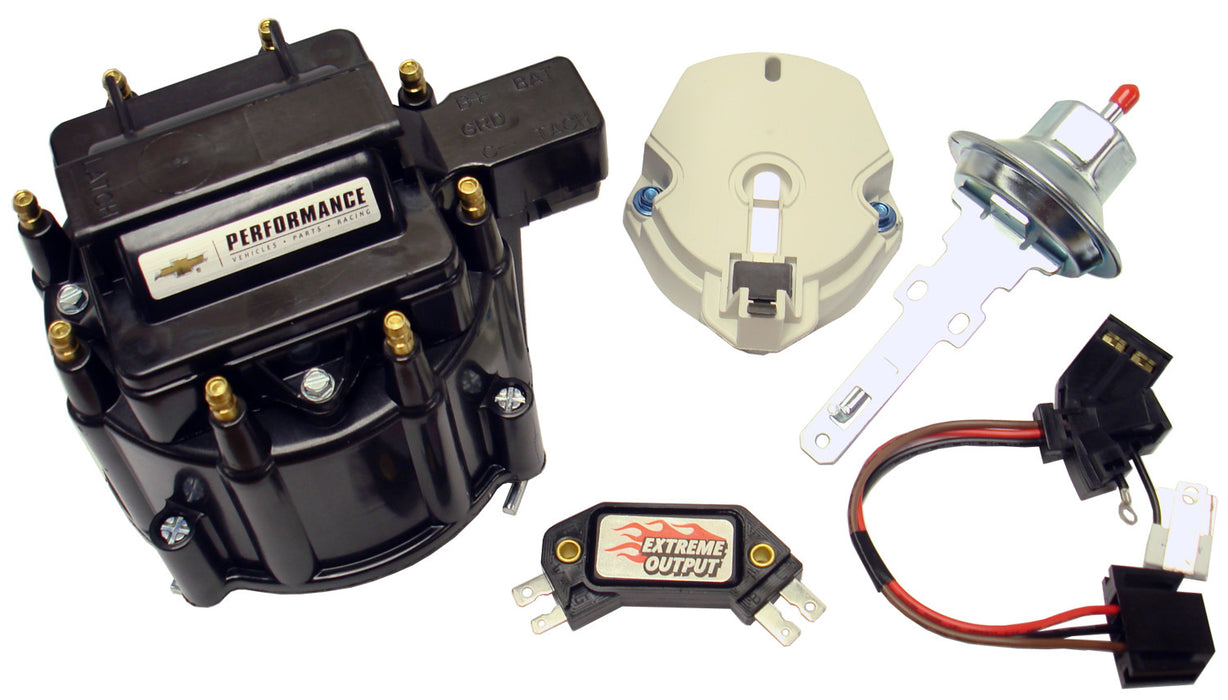 Chevrolet Performance Parts-141-796-Engine Distributor Tune-Up Kit Fits GM HEI V8 Dist w/Internal Coil Black Cap Chevrolet Performance Parts-AutoAccessoriesGuru.com