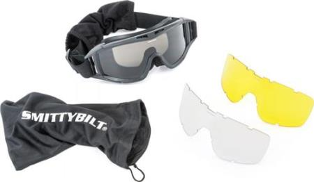 Smittybilt-1504-Protective Goggles With Bag Clear / Smoke / Amber Lens Smittybilt-AutoAccessoriesGuru.com