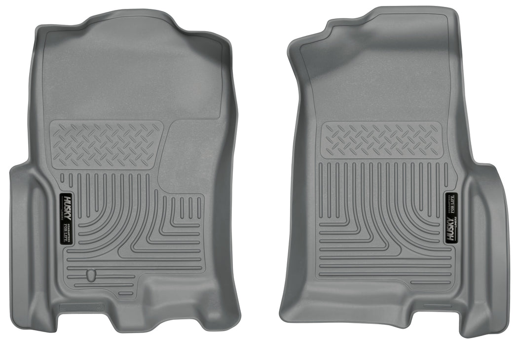 Husky Liners-18392-Expedition Front Floor Liners 07-10 Ford Expedition, 07-10 Lincoln Navigator Grey Husky Liners-AutoAccessoriesGuru.com