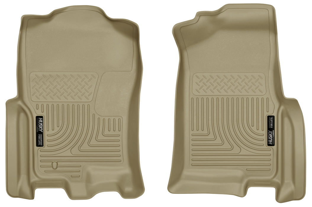Husky Liners-18393-Expedition Front Floor Liners 07-10 Ford Expedition, 07-10 Lincoln Navigator Tan Husky Liners-AutoAccessoriesGuru.com