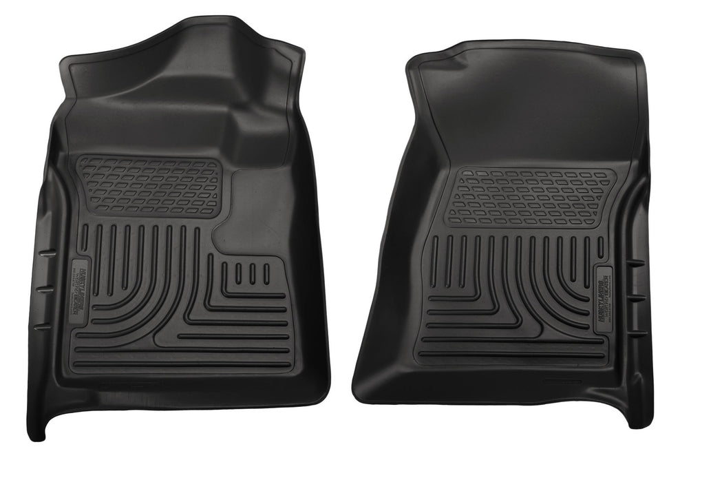 Husky Liners-18721-Husky Floor Liners Front 12-15 Ford F Series With Side Foot Rest WeatherBeater-Black-AutoAccessoriesGuru.com