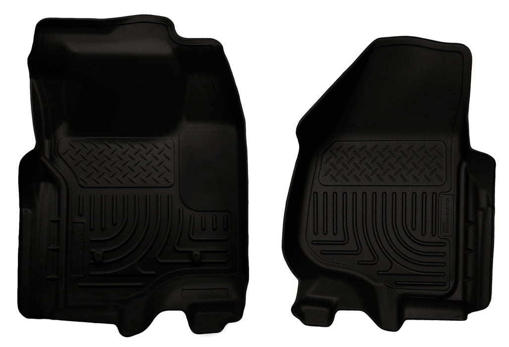 Husky Liners-18731-Husky Floor Liners Front 11-12 Ford F Series No Drivers Side Foot Rest WeatherBeater-Black-AutoAccessoriesGuru.com