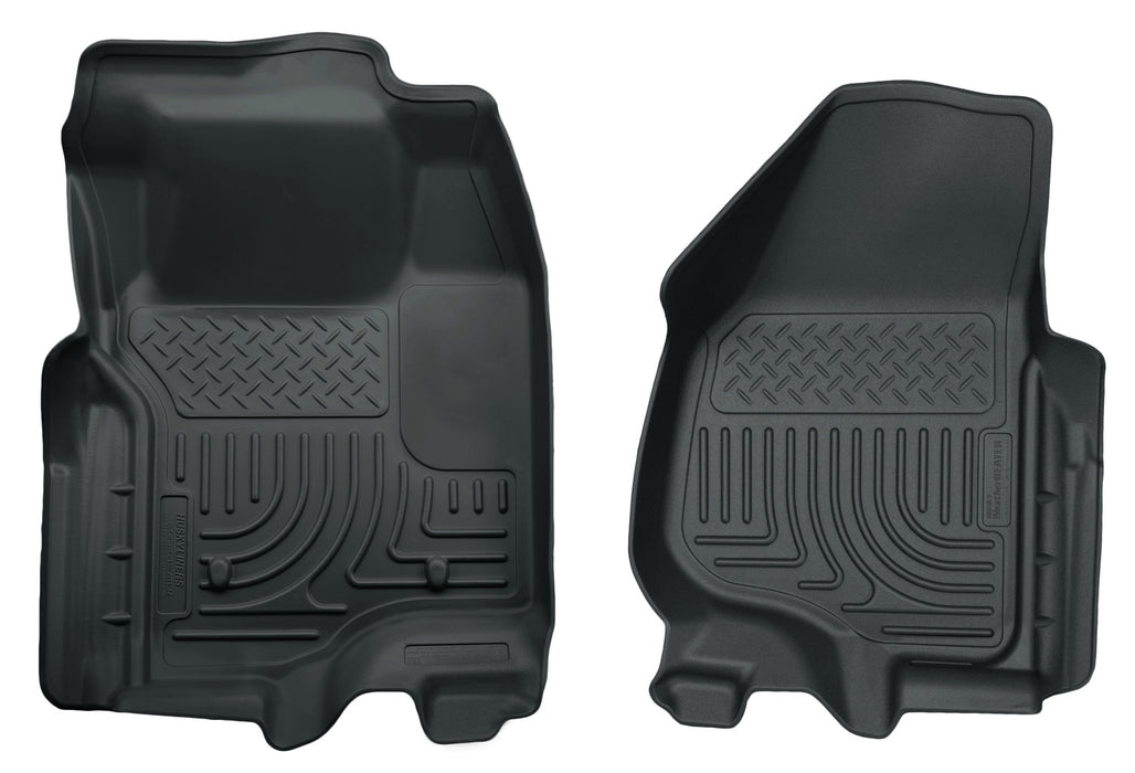 Husky Liners-18732-Husky Floor Liners Front 11-12 Ford F Series No Drivers Side Foot Rest WeatherBeater-Grey-AutoAccessoriesGuru.com