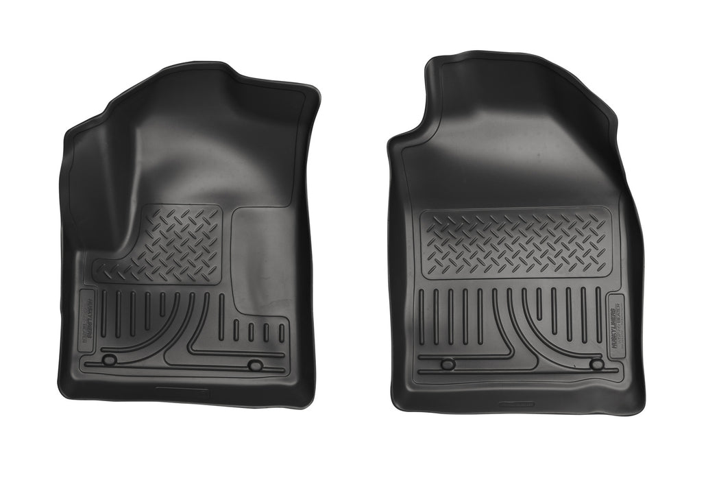 Husky Liners-18751-Husky Floor Liners Front 10-13 Ford Transit Connect W/Factory Carpeting WeatherBeater-Black-AutoAccessoriesGuru.com