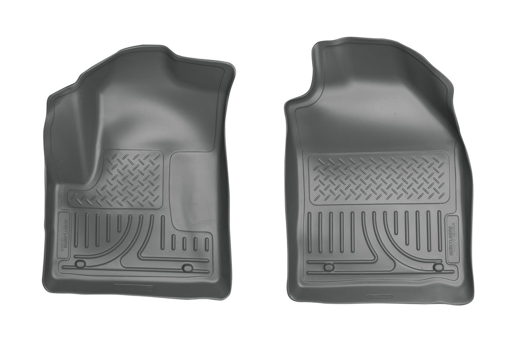 Husky Liners-18752-Husky Floor Liners Front 10-13 Ford Transit Connect W/Factory Carpeting WeatherBeater-Grey-AutoAccessoriesGuru.com