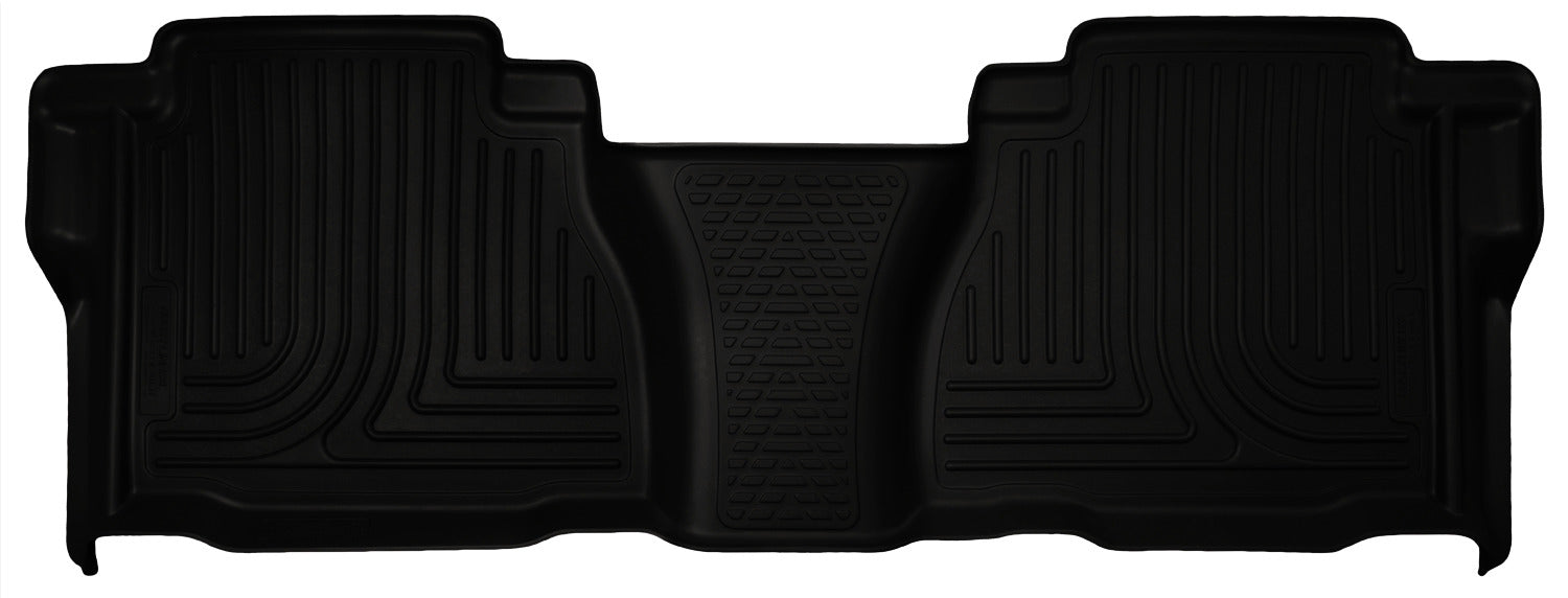 Husky Liners-19591-Husky Floor Liners 2nd Seat (Full Coverage) 07-13 Toyota Tundra Dbl/CrewMax Cab WeatherBeater-Black-AutoAccessoriesGuru.com