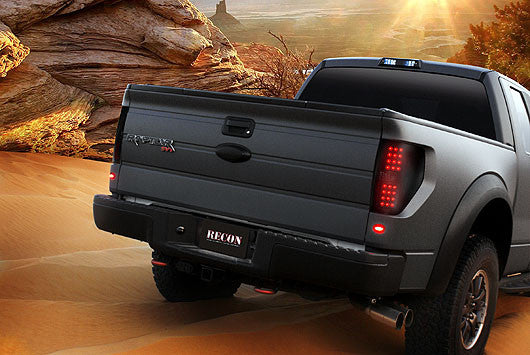 Recon LED Tail Lights Ford F-150 09-14 SMOKED #264168BK-Auto Accessories Guru .COM