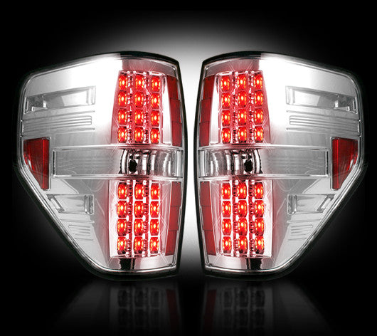 Recon LED Tail Lights Ford F-150 Raptor 09-14 CLEAR #264168CL-Auto Accessories Guru .COM