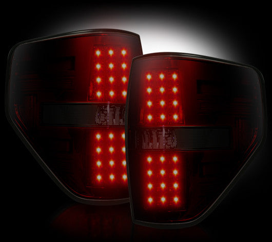 Recon LED Tail Lights Ford F-150 09-14 RED SMOKED #264168RBK-Auto Accessories Guru .COM