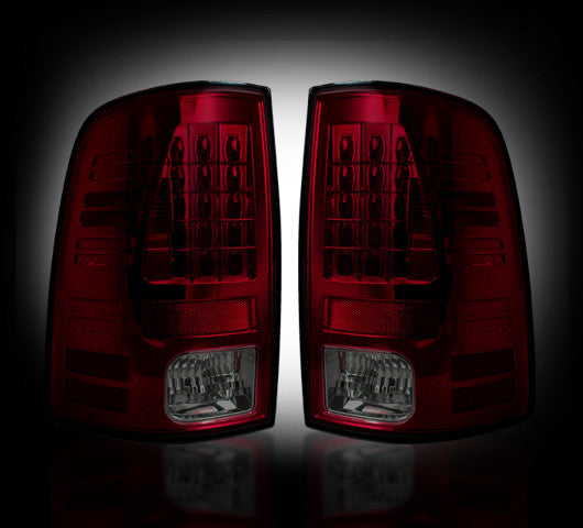Recon LED Tail Lights Dodge Ram 09-14 RED SMOKED #264169RBK-Auto Accessories Guru .COM