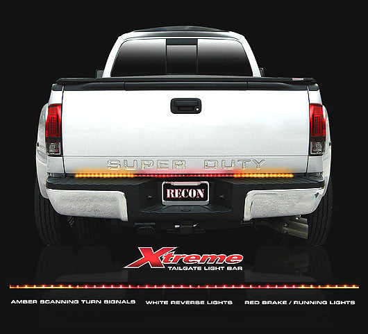 "RECON-26416X-Recon ""Xtreme"" Scanning Amber, White, & Red 60"" LED Tailgate Light Bar 26416X-AutoAccessoriesGuru.com"