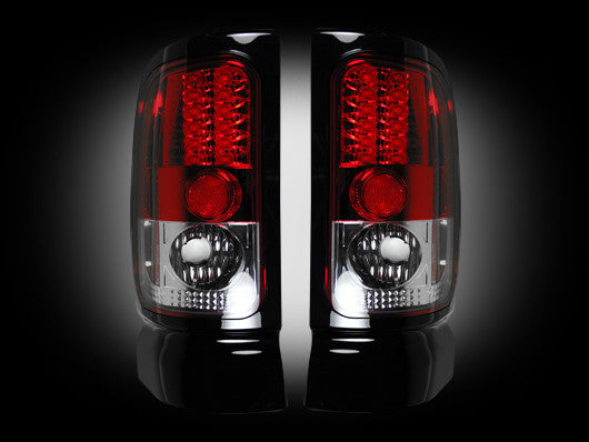 RECON-264170RD-RECON LED Tail Lights Dodge Ram 94-01 1500 94-02 2500/3500 RED CLEAR Part# 264170RD-AutoAccessoriesGuru.com