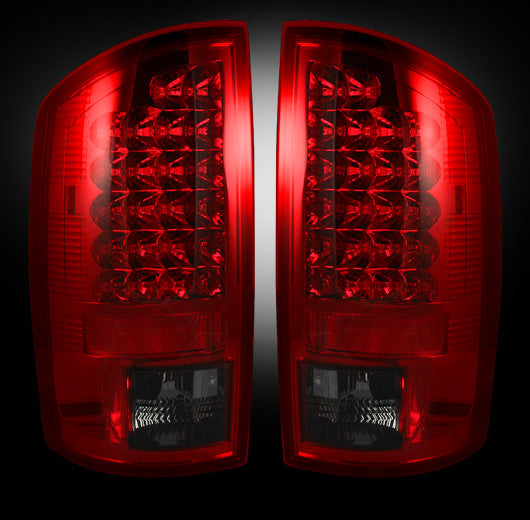 Recon LED Tail Lights Dodge Ram 02-06 1500 03-06 2500/3500 RED SMOKED #264171RBK-Auto Accessories Guru .COM