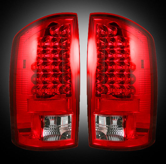 Recon LED Tail Lights Dodge Ram 02-06 1500 03-06 2500/3500 RED CLEAR #264171RD-Auto Accessories Guru .COM