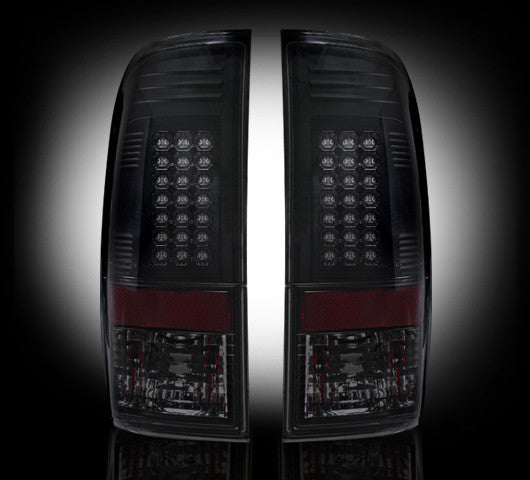 Recon LED Tail Lights Ford SuperDuty 99-07 SMOKED #264172BK-Auto Accessories Guru .COM