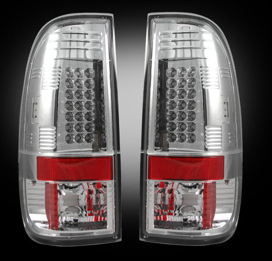 Recon LED Tail Lights Ford SuperDuty 99-07 CLEAR #264172CL-Auto Accessories Guru .COM