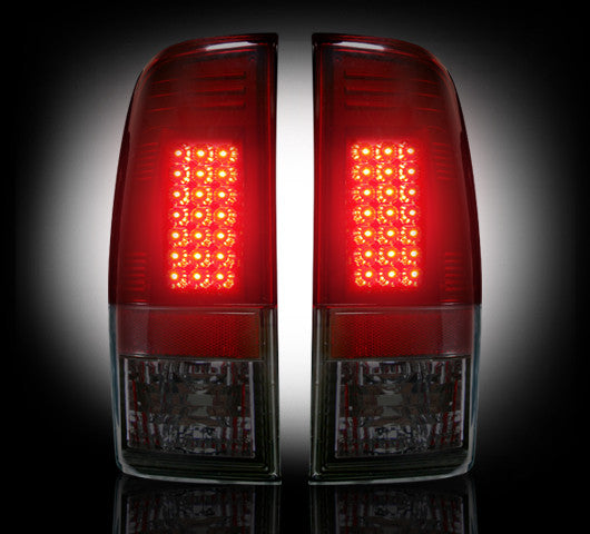 Recon LED Tail Lights Ford SuperDuty 99-07 RED SMOKED #264172RBK-Auto Accessories Guru .COM