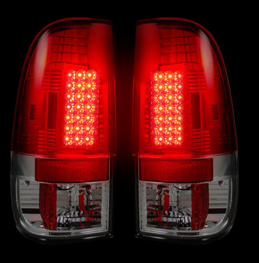 Recon LED Tail Lights Ford SuperDuty 99-07 RED CLEAR #264172RD-Auto Accessories Guru .COM