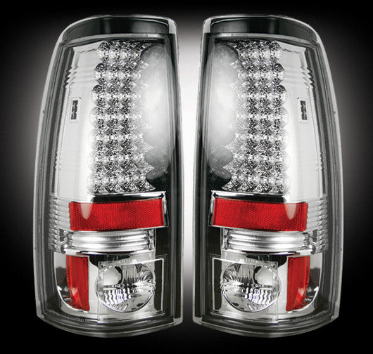 RECON-264173CL-RECON LED Tail Lights GMC Sierra 99-07 CLEAR Part# 264173CL-AutoAccessoriesGuru.com
