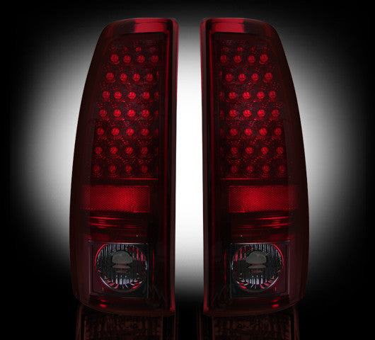 RECON-264173RBK-RECON LED Tail Lights Chevy Silverado 99-07 RED SMOKED Part# 264173RBK-AutoAccessoriesGuru.com