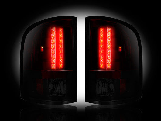 RECON-264175RBK-RECON LED Tail Lights GMC Sierra 07-14 RED SMOKED Part# 264175RBK-AutoAccessoriesGuru.com