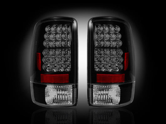 RECON-264177BK-RECON LED Tail Lights Chevy & GMC Tahoe/Suburban/Yukon/Denali 00-06 SMOKED Part# 264177BK-AutoAccessoriesGuru.com