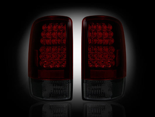 RECON-264177RBK-RECON LED Tail Lights Chevy & GMC Tahoe/Suburban/Yukon/Denali 00-06 RED SMOKED Part# 264177RBK-AutoAccessoriesGuru.com