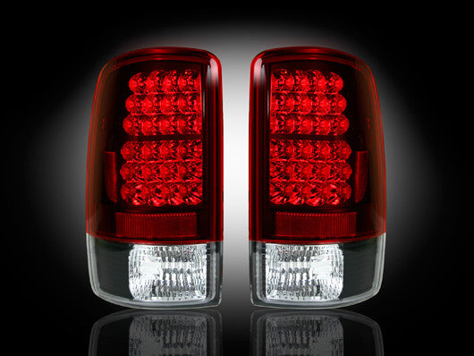 RECON-264177RD-RECON LED Tail Lights Chevy & GMC Tahoe/Suburban/Yukon/Denali 00-06 RED CLEAR Part# 264177RD-AutoAccessoriesGuru.com