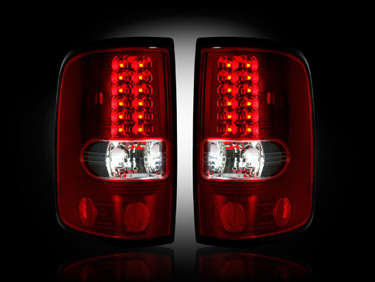 Recon LED Tail Lights Ford F-150 04-08 RED CLEAR #264178RD-Auto Accessories Guru .COM