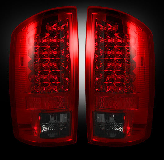 Recon LED Tail Lights Dodge Ram 07-08 1500 07-09 2500/3500 RED SMOKED #264179RBK-Auto Accessories Guru .COM