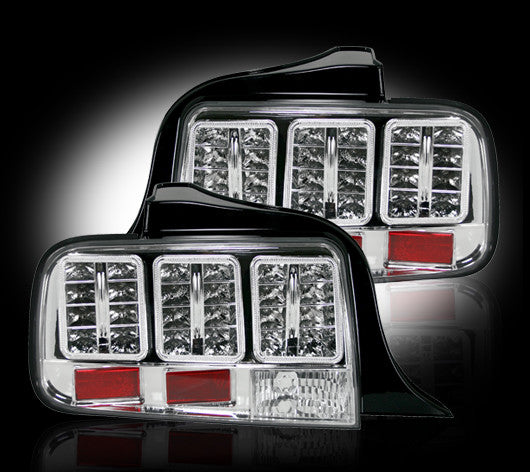 264187CL Recon LED Tail Lights 05-09 Ford Mustang