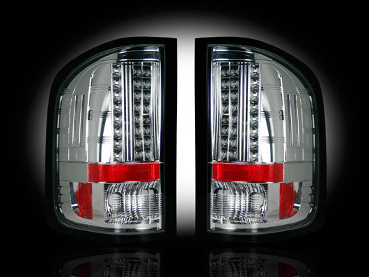RECON-264189CL-RECON LED Tail Lights GMC Sierra 07-13 CLEAR Part# 264189CL-AutoAccessoriesGuru.com
