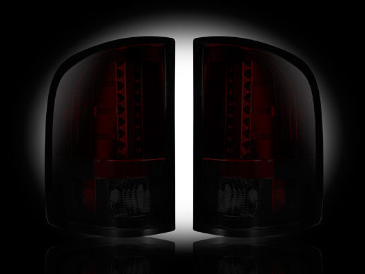 RECON-264189RBK-RECON LED Tail Lights GMC Sierra 07-13 RED SMOKED Part# 264189RBK-AutoAccessoriesGuru.com
