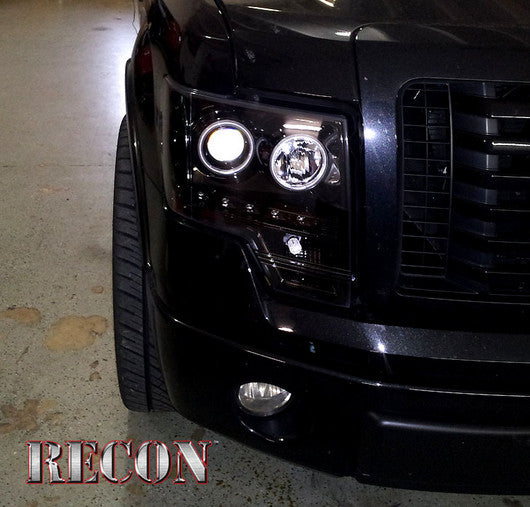 RECON-264190BKCC-RECON Projector Headlights Ford F-150 09-13 & Raptor SMOKED 264190BKCC-AutoAccessoriesGuru.com