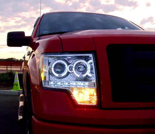 RECON-264190CL-RECON Projector Headlights Ford F-150 09-13 & Raptor CLEAR Part# 264190CL-AutoAccessoriesGuru.com