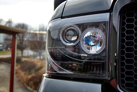 RECON-264193BK-RECON Projector Headlights Superduty/Excursion 05-07 SMOKED w LED HALOS Part# 264193BK-AutoAccessoriesGuru.com