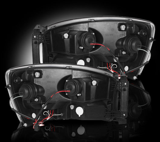 RECON-264198BK-RECON Projector Headlights Ford F-150 04-08 w HALO SMOKED Part# 264198BK-AutoAccessoriesGuru.com