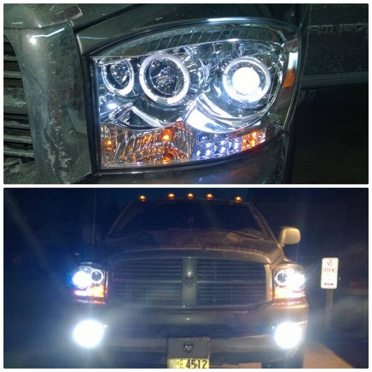 RECON-264199CLCC-RECON Projector Headlights Dodge Ram 06-08 CLEAR w/ CCFL HALOS Part# 264199CLCC-AutoAccessoriesGuru.com