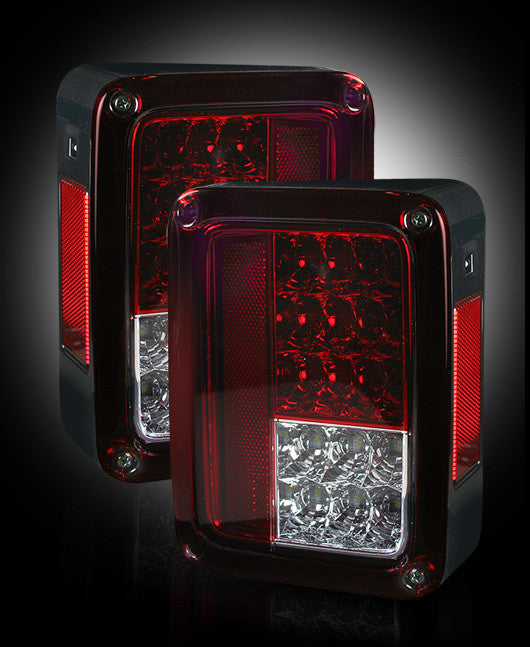 264234RD Recon LED Tail Lights 07-17 Jeep Wrangler