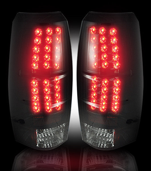 RECON-264235BK-RECON LED Tail Lights Chevy Avalanche 07-13 SMOKED Part# 264235BK-AutoAccessoriesGuru.com
