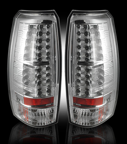 RECON-264235CL-RECON LED Tail Lights Chevy Avalanche 07-13 CLEAR Part# 264235CL-AutoAccessoriesGuru.com