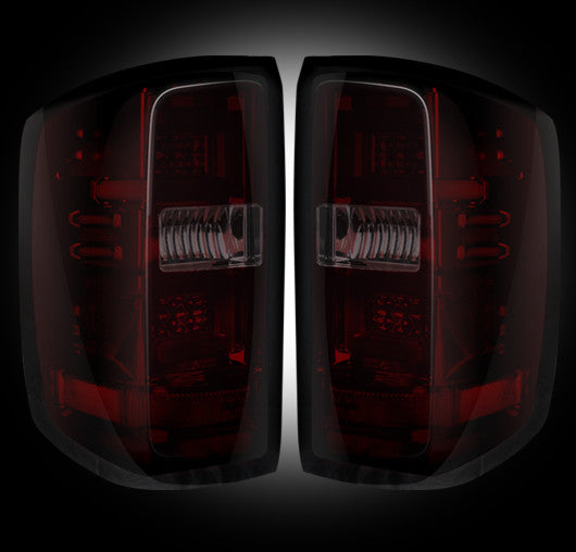 RECON-264238RBK-RECON LED Tail Lights Chevy Silverado 14-17 RED SMOKED OLED Part# 264238RBK-AutoAccessoriesGuru.com
