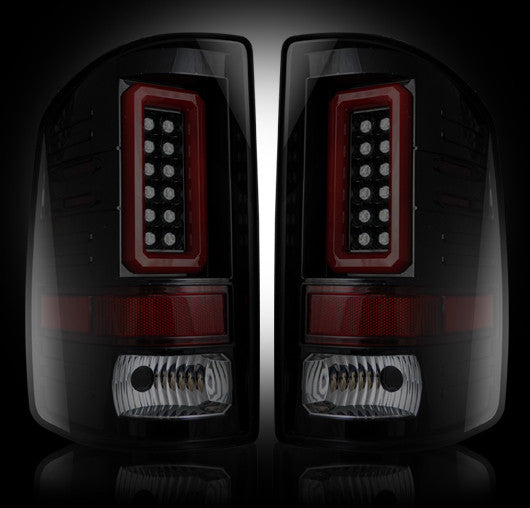 RECON-264239BK-RECON LED Tail Lights GMC Sierra 14-17 SMOKED Part# 264239BK-AutoAccessoriesGuru.com