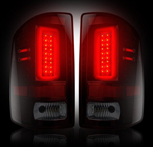 RECON-264239RBK-RECON LED Tail Lights GMC Sierra 14-17 RED SMOKED Part# 264239RBK-AutoAccessoriesGuru.com