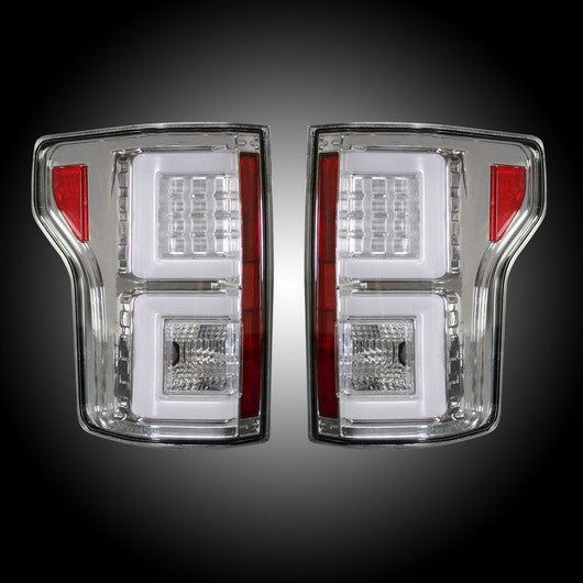 Recon LED Tail Lights Ford F-150 15-17 CLEAR #264268CL-Auto Accessories Guru .COM