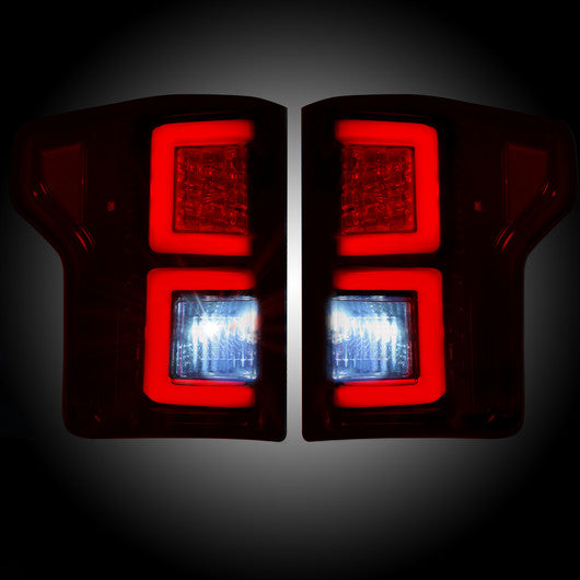 Recon LED Tail Lights Ford F-150 15-17 RED SMOKED #264268RBK-Auto Accessories Guru .COM