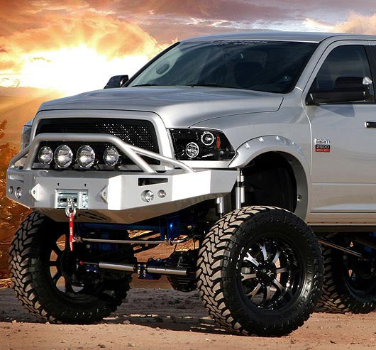 RECON-264270BK-RECON Projector Headlights Dodge Ram 09-12 SMOKED w/ LED HALOS Part# 264270BK-AutoAccessoriesGuru.com